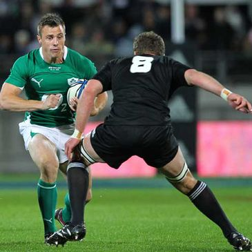 Tommy Bowe in action against New Zealand