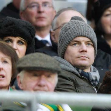 Brian O'Driscoll and his wife Amy at last Sunday's match