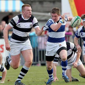 Brian Haugh in Schools Cup action for Rockwell College