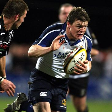 Brian O'Driscoll in Magners League action