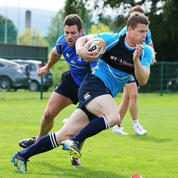 Brian O'Driscoll training with the Leinster squad