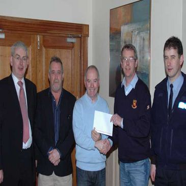 Buccaneers' donation to the Athlone Drugs Awareness Group