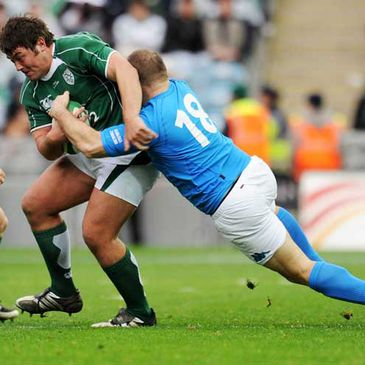 Tony Buckley in action against Italy