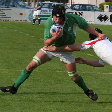 Charlie Armstrong in action for the Ireland U-18 Clubs side