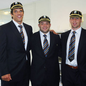 Donncha O'Callaghan, Rory Best and Denis Leamy