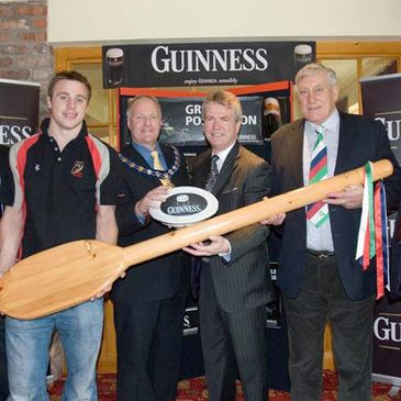 Tommy Bowe and Willie John McBride helped launch the 2007 Carrick Sevens