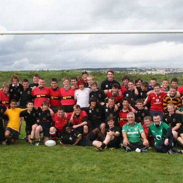 The Carrickfergus and Letterkenny Youth teams