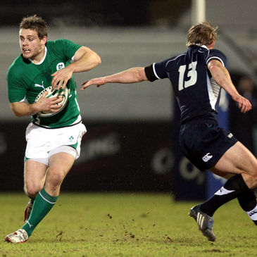 Darren Cave in action for the O2 Ireland Wolfhounds against Scotland 'A' last season