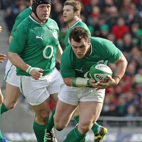 Cian Healy in action against Italy