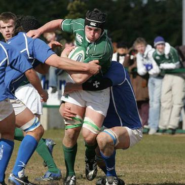 Second row Ciaran Ruddock in action for the Ireland Under-19s against Italy