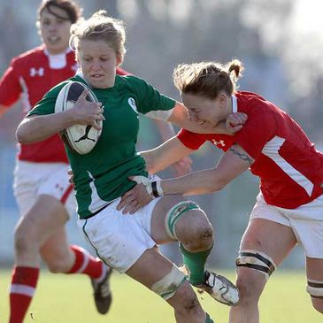 Claire Molloy in action for Ireland against Wales in the Women's 6 Nations