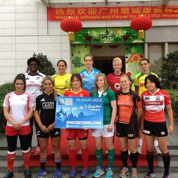 Claire Molloy with the other captains in China