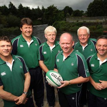 The new Ireland coaching staff pose together in Cork