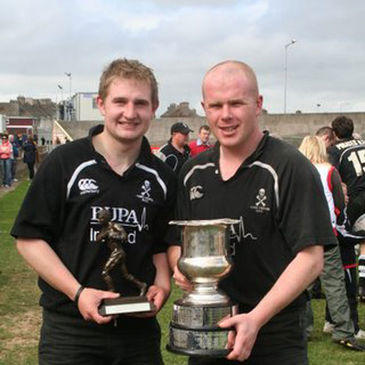 Eamon Ronan and Colin Cronin of Cobh Pirates