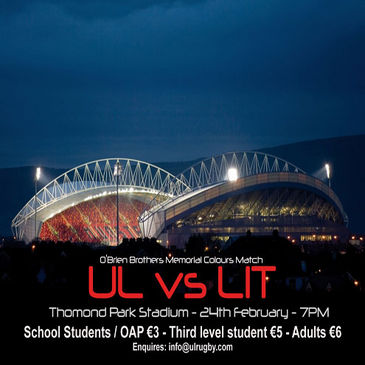 Check out UL v LIT at Thomond Park this week