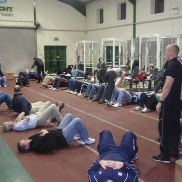 A view of the Connacht branch's fitness workshop