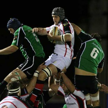 Lineout action from Ulster's win over Connacht at the Sportsground in November