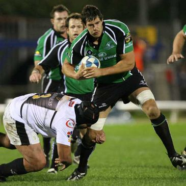 Connacht's Michael McCarthy in action against Cetransa El Salvador