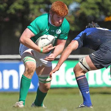 Ireland Under-19 captain Conor Joyce in action against France