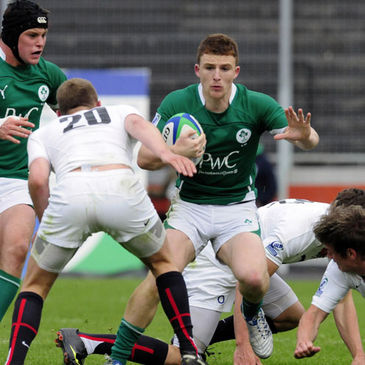 Andrew Conway in action for the Ireland Under-20s