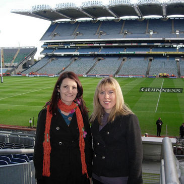 Nicola Hayes and Maria Aylward at Croke Park