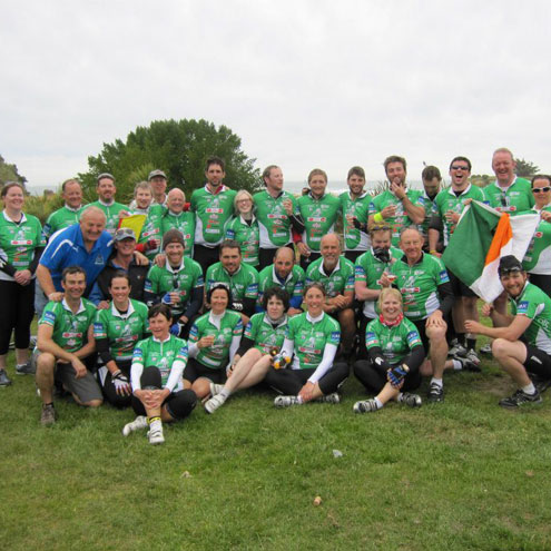 The IRFU Charitable Trust cyclists