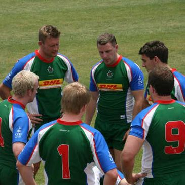 The DHL Exiles Sevens team