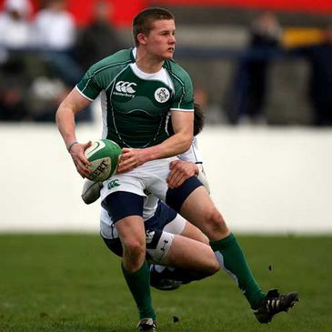 Diarmaid McCarthy in action for the Irish Under-18s against Scotland