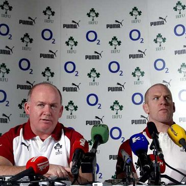Ireland's Declan Kidney and Paul O'Connell