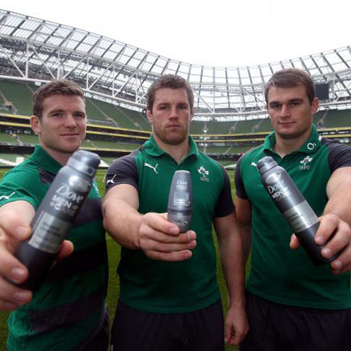 Gordon D'Arcy, Sean O'Brien and Rhys Ruddock