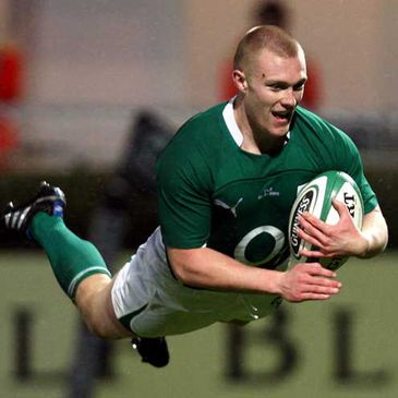 Keith Earls in flying form for Ireland