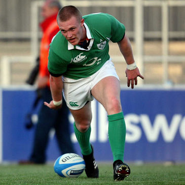 Keith Earls touching down against Canada