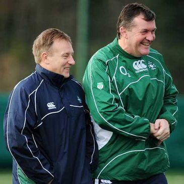 Ireland coach Eddie O'Sullivan and assistant coach Niall O'Donovan