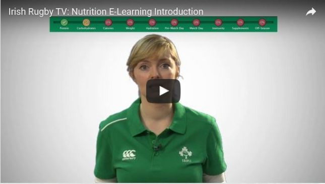 Ireland Stars Support IRFU Nutrition E-Learning Tool For Young Players