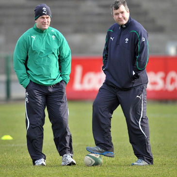 O2 Ireland Wolfhounds coaches Eric Elwood and Anthony Foley