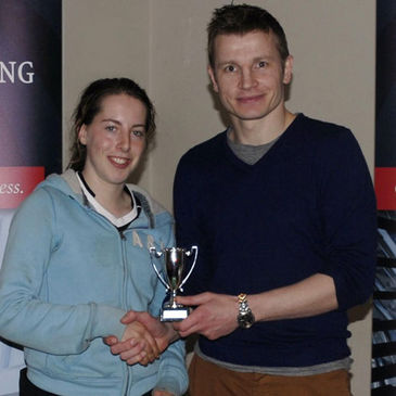 Emma Murphy receives her Player of the Tournament award