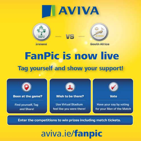 Tag yourself with the Aviva Fanpic