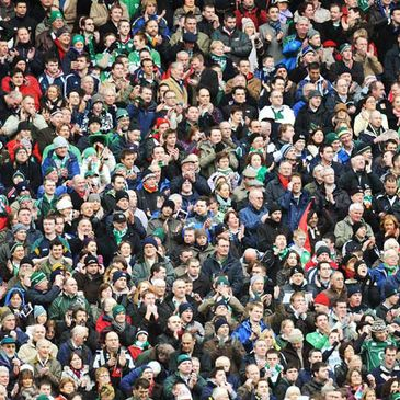 Fans at the Ireland V Italy game in Croke Park on Saturday