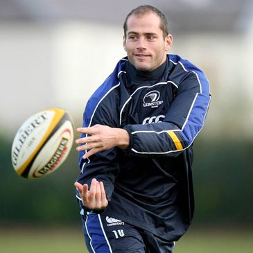 Felipe Contepomi training with the Leinster squad