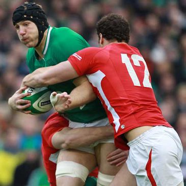 Stephen Ferris in action against Wales