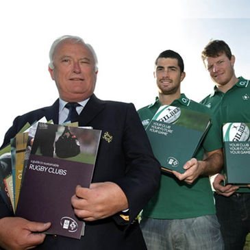 Finbarr Crowley, Rob Kearney and Malcolm O'Kelly