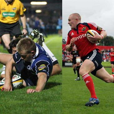 Luke Fitzgerald and Keith Earls