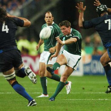 Ronan O'Gara in action against France during the World Cup