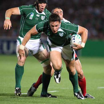 David Wallace on the charge for Ireland against Georgia