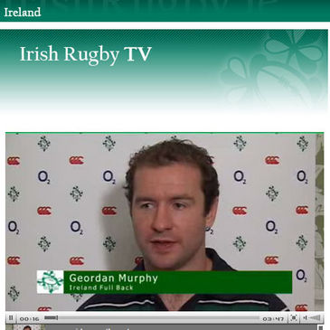 Geordan Murphy on Irish Rugby TV