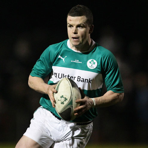 Gerry Hurley in action for the Ireland Club XV
