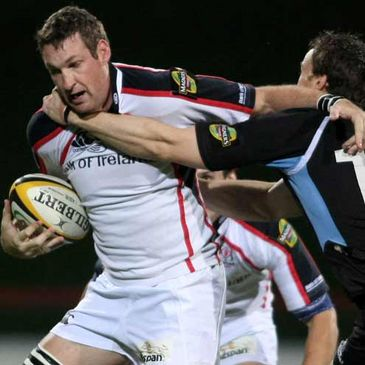 Justin Harrison in action for Ulster against Glasgow