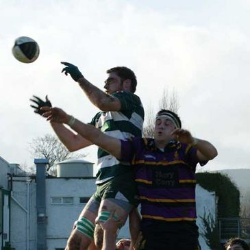 Action from the Greystones v Instonians game