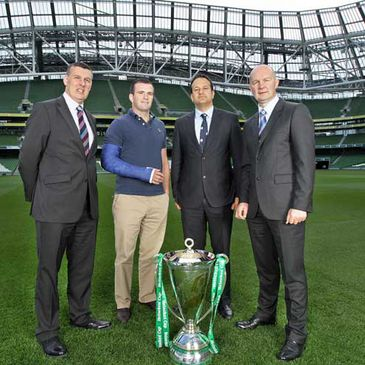 Philip Browne, Shane Jennings, Leo Varadkar and Derek McGrath