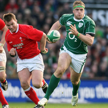 Jamie Heaslip in action against Wales in 2008